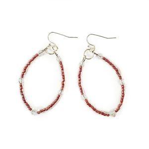 Artisan Swarovski Crystal Pink Beaded Earrings